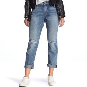 NWT HUDSON Jeans Jessi Ripped Crop Boyfriend Jeans
